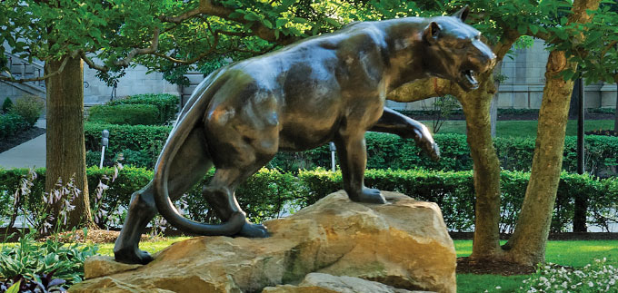 The Pitt mascot, Roc the panther